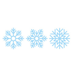 Snowflake christmas icon in flat design vector