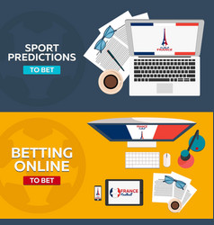 Sport predictions betting online football online vector