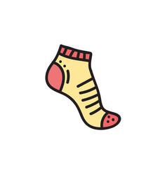 Sport sock vector