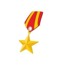 Star second world war medal cartoon icon vector