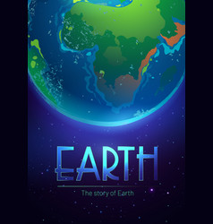story earth poster with green planet vector image