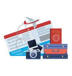 Suitcase and travel design vector