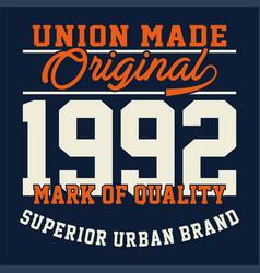 Union made original vector