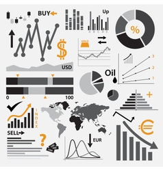 various graphs for your business or stock market vector image