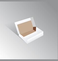 white cardboard box mock up vector image