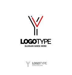 y logo digital logo template black and red logo vector image