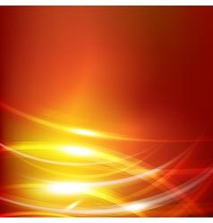 Abstract dark orange background with lighting vector image vector image