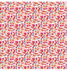 Cute hearts seamless pattern fashion vector