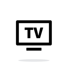 Flatscreen TV simple icon on white background vector image vector image