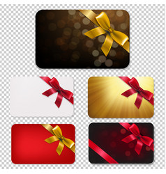 gift card with bows big set vector image