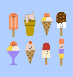 ice cream set eps vector image vector image