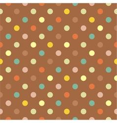 Seamless colorful polka dots autumn pattern vector image vector image