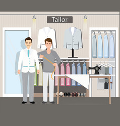 tailor shop vector image