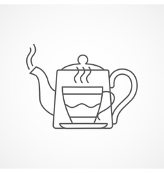 Teapot and cup Tea concept vector image vector image