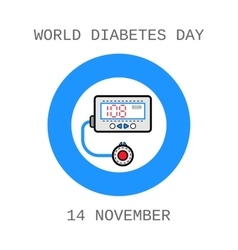 World Diabetes Day Medical flat icons vector image vector image