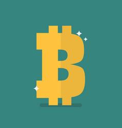 bitcoin icon sign vector image vector image