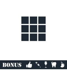 Building block icon flat vector image