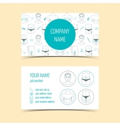 Business cards for plastic surgery clinic vector image vector image
