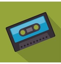 cassette record music sound design vector image