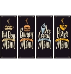 cover menu for fast food restaurant vector image vector image