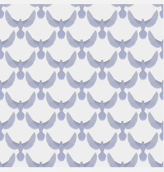 dove flying bird seamless pattern vector image vector image