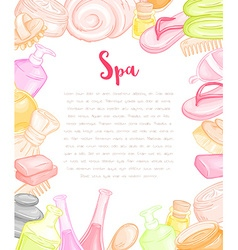 hand drawn blank design for invitation or gift vector image vector image