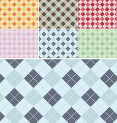 Plaid Pattern Seamless Set vector image vector image