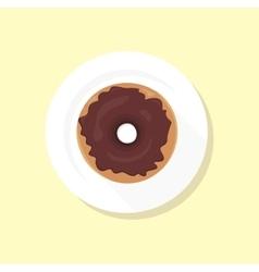 Sweet Donuts Set Design Flat Food vector image vector image