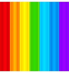 Vertical rainbow plastic stripes abstract vector image vector image