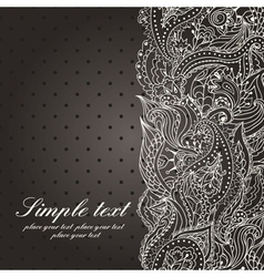 wedding invitation with lace paisley pattern vector image vector image