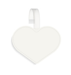 blank of heart sale wobbler mock up vector image
