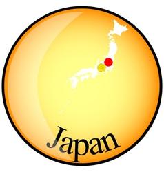 button Japan vector image
