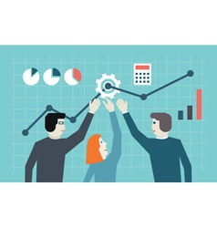 Concept of management human resources vector image vector image