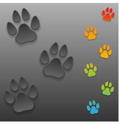 Dog tracks vector