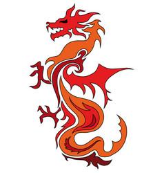dragon china zodiac symbols tattoo dragon vector image