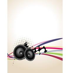 Grunge speaker music art vector image