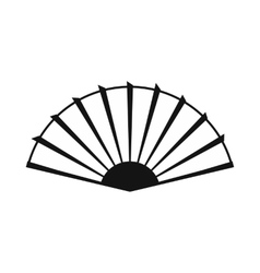 Open hand fan icon simple style vector image vector image