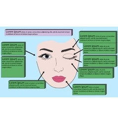 Template face for makeup vector image