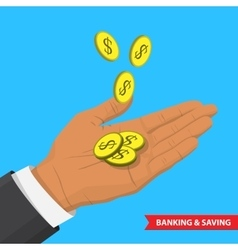 Banking ans saving vector image