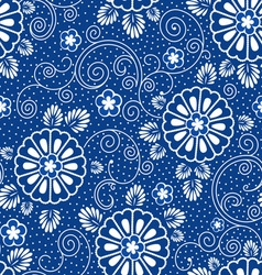 japan blue floral pattern vector image