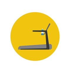 Treadmill Running track icon vector image
