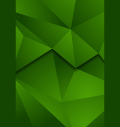 abstract green tech low poly background vector image
