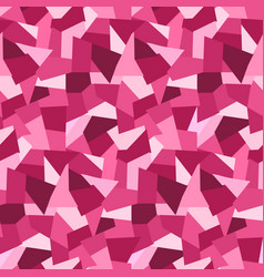 abstract pink low polygons seamless pattern vector image