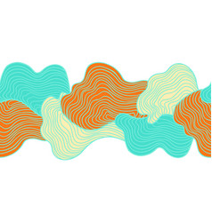 Abstract seamless stripes pattern vector