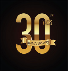 anniversary retro vintage badge 30 vector image