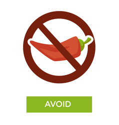 Avoid spicy food medical advice crossed chili vector