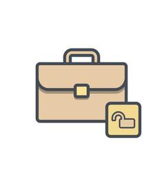 bag briefcase business portfolio unlock work vector image