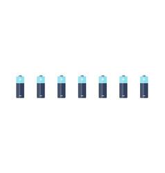 Battery set alkaline batteries batteries flat vector