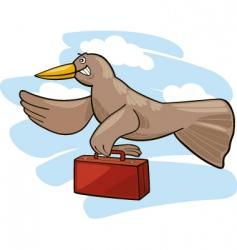 Bird migration vector
