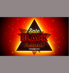 black friday sales background 16x9 template vector image